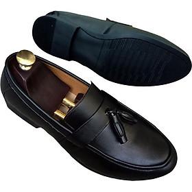 Giày Tây Nam Phong Cách Công Sở Lịch Lãm Có Chuông Đen DR02 Sang Trọng