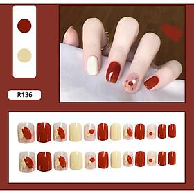 Bộ 24 móng tay giả nail thơi trang như hình (R-136)