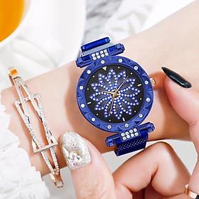 Đồng hồ nữ Ulzzang mặt hoa 3d dây titanium sang trọng thời trang