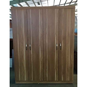 Tủ đựng quần áo bằng gỗ MDF 4 cánh màu nâu 106
