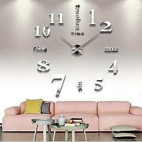Đồng hồ trang trí treo tường 3D- gắn tường sáng tạo loại lớn DH01 nhiều màu