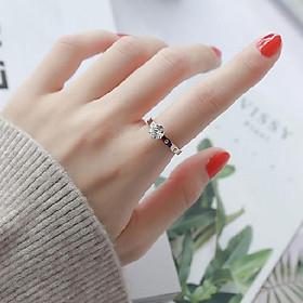 Nhẫn titanium đính hột BHN45