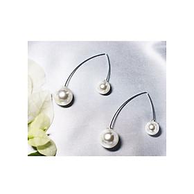 Hình đại diện sản phẩm Bông tai Hàn Quốc - Hoa tai đẹp sang chảnh - Khuyên tai đi dự tiệc, đám cưới, sinh nhật xinh xắn - Mẫu 25