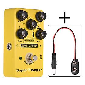 Super Flanger Guitar Effect Pedal 3 Flanger Modes Aluminum Alloy Shell True Bypass