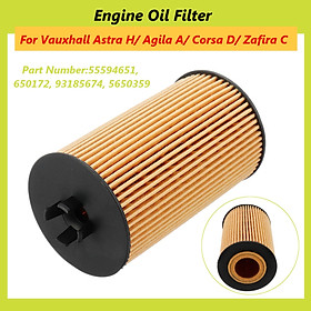 Engine Oil Filter For Vauxhall Astra H/ Agila A/ Corsa D/ Zafira C #55594651