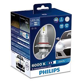 Bóng Đèn Pha Xe Ô Tô Philips X-tremeUltinon LED HB3/4 11005XUX2 6000K+ 200%