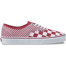 Giày Sneaker Unisex Authentic Mix Checker Vans VN0A38EMVK5 - Chili Pepper/True White