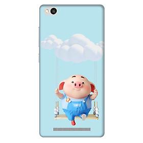 Hình đại diện sản phẩm Ốp lưng nhựa cứng nhám dành cho Xiaomi Redmi 3 in hình Heo Con Đu Quay