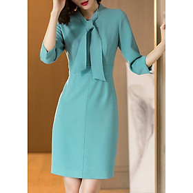 Đầm Ôm Body Tay Lỡ Thắt Nơ DRESS295N