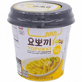Bánh gạo Hàn Quốc YOPOKKI xốt Bơ hành cốc 120g
