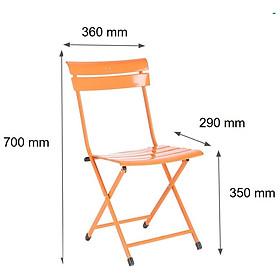 Ghế xếp sắt cafe mini color