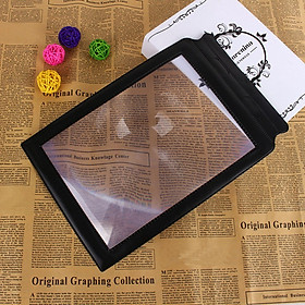 Handheld 3X Reading Magnifier A4 Full Page Books Reading Aid Magnifying Glass