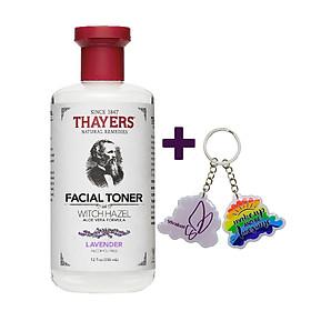 Nước Hoa Hồng Không Cồn Thayers Witch Hazel Lavender (Oải Hương) 355ml (Dành cho da dầu, da có mụn) + TẶNG MÓC KHÓA