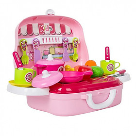Hộp bếp nấu ăn hình ô tô Toys House tặng xe trượt đà cho bé VBC-123-6 (ngẫu nhiên)