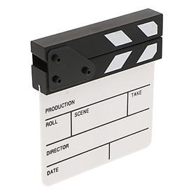 Sunnimix Gỗ Clapper Board 6.5  X 6.0  Cho Bộ Phim Truyền Hình Làm Cho Clapboard Đạo Cụ Acrylic