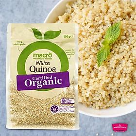 Hạt Quinoa Của Úc Macro Organic Quinoa Tri Colour Giàu Dinh Dưỡng - Rất Tốt Cho Trẻ Ăn Dặm, Người Ăn Chay, Ăn Mặn Giúp Giảm Cholesterol, Kiểm Soát Đường Máu, Giảm Cân - Gói 500g
