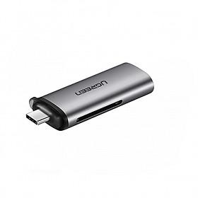 Đầu đọc thẻ SD/TF USB type-C Ugreen 50704 - Hàng chính hãng