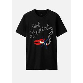 Áo T-shirt Unisex Saint Laurent Dotilo HT27 - Đen