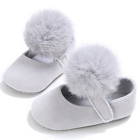 New Style Kids Girls Fashion Cotton Fabric Toddler Shoes Girl Cute Hairball Anti-skid Princess Shoe