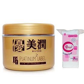 Combo 1 hộp kem dưỡng trắng da Platinum Label Nhật bản (175g) HỘP VÀNG + 1 Bông tẩy trang 50 miếng