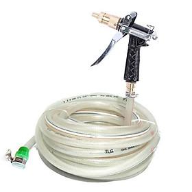 Bộ dây và vòi xịt tăng áp lực nước  lên 300% loại 20m (cút đồng- dây trắng)  tưới cây dọn dẹp nhà cửa,rửa xe,vòi,vòi xịt rửa,vòi tưới cây,tưới rau,cọ rửa nhà tắm ,bồn cầu 236497499498-1