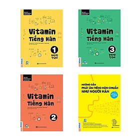 Combo Vitamin tiếng Hàn cho người mới bắt đầu kèm App di dộng và Web ( Vitamin tiếng Hàn 1, 2, 3 + tặng kèm Hướng dẫn phát âm chuẩn như người Hàn Quốc)