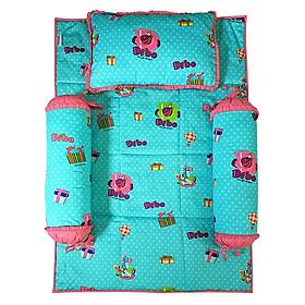 Bộ 4 Món Ga Gối Cho Bé Sleep Baby Gift Dragon Dibo - F158