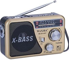 Đài USB THẺ NHỚ NGHE NHẠC WAXIBA XB-521URT RADIO AM\FM\SW LOA TO X-BASS CÓ ĐÈN PIN GIAO MÀU NGẪU NHIÊN HÀNG CHÍNH HÃNG