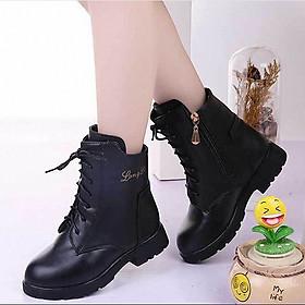 Boot bé gái trẻ em thiết kế cao cổ phong cách Hàn Quốc - B10