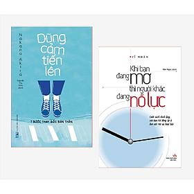 Combo 2 cuốn: Dũng Cảm Tiến Lên - 7 Bước Thay Đổi Bản Thân + Khi Bạn Đang Mơ Thì Người Khác Đang Nỗ Lực (kèm bookmark )