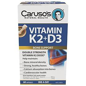 Carusos Natural Health Vitamin K2 + D3 60 Capsules