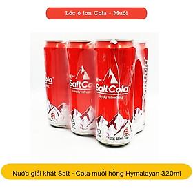 Lốc 6 lon nước giải khát có gas Salt-Cola muối hồng Himalayan 320ml