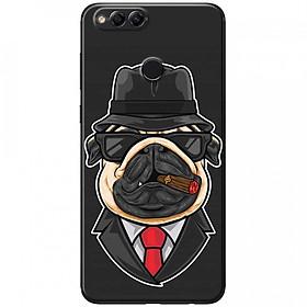 Ốp lưng dành cho  Honor 7X mẫu Chó mặt xệ ngậm thuốc