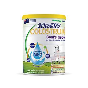 Sữa bột dinh dưỡng Colos Mk7 GOAT'S GROW sữa dê giúp bé ăn ngon ngủ tốt, tăng cường trí nhớ, phát triển toàn diện từ 1-15 tuổi NUTRI PLUS-900G
