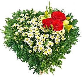 Hộp hoa tươi - Tim 2 3735