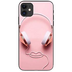 Ốp lưng dành cho Iphone 12 Mini Tai Nghe Hồng