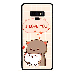 Ốp lưng viền TPU cho điện thoại Samsung Galaxy Note 9 - I Love U
