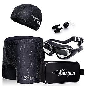 Combo Đồ Bơi Nam Youyou Z25155: Quần Bơi + Mũ Bơi + Kính Bơi + Bịt Mũi + Kẹp Tai + Túi Đựng