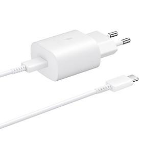 Bộ Adapter Sạc Nhanh Samsung 25W Kèm Cáp USB Type-C to USB Type-C 1m FullBox - Hàng Chính Hãng