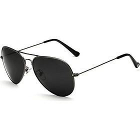 Kính mát phân cực thời trang nam Veithdia 3026 (pilot) (đen) - chống tia cực tím UV bảo vệ mắt và làm dịu ánh sáng chói