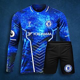 Áo Bóng Đá Độc Lạ Dài Tay - CLB Chelsea Galaxy