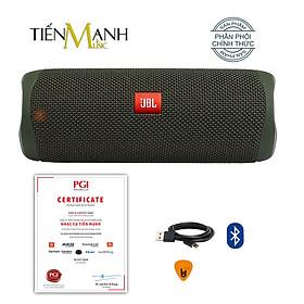 [Bluetooth] Loa JBL Flip 5 (Màu Xanh Rêu) - Loa Nghe Nhạc Waterproof Portable Speaker Hàng Chính Hãng - Kèm Móng Gẩy DreamMaker
