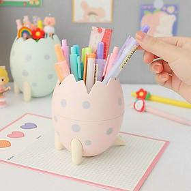 Ống đựng bút hình quả trứng khủng long sáng tạo cute dễ thương