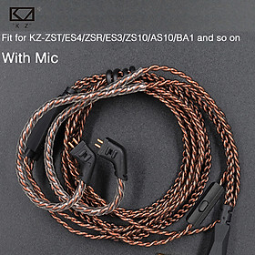 KZ ZST/AS12/ZS3/ZS6/ZST/ZSR/ZS10/AS10/ED12/ZS4/ZSA/ED16 Dedicated Cable 0.75mm 2-Pin Upgraded Cable Replace Cable Earphone Wire Use For KZ Earphone ZSN/ZSNPRO/ZS10PRO/AS16