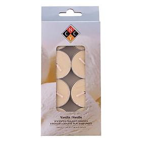 Hộp 8 Nến Tealight Thơm Cao Cấp Hương Vanilla Nycandle FtraMart Candle EDC-NYC08 (Vàng Nhạt)