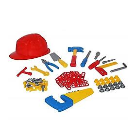 Bộ Đồ Chơi Dụng Cụ Kỹ Thuật 74 Chi Tiết - Polesie Toys - Màu Đỏ