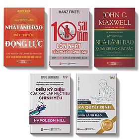 Bộ sách 5 cuốn:10 sai lầm lớn nhất của người lãnh đạo, Hãy trở thành nhà lãnh đạo biết truyền động lực, Để trở thành nhà lãnh đạo quần chúng xuất sắc,Bí quyết ra quyết định cho nhà lãnh đạo, Điều kỳ diệu của xác lập mục tiêu chính yếu