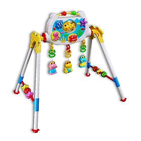 Đồ chơi trẻ sơ sinh Kệ chữ A Nhựa Chợ Lớn K6 (Có nhạc) - M1794-BB91-2I, Nhựa chính phẩm an toàn, Sản xuất tại Việt Nam - Hàng chính hãng