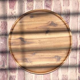 Khay gỗ tròn Acacia