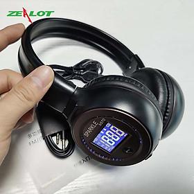 Tai nghe bluetooth chụp tai Zealot có màn hình hiện thị hàng chính hãng dành cho các game thủ chơi game nghe nhạc thỏa thích